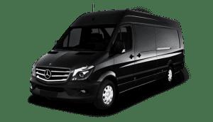 Mercedes Sprinter van to mountain limo